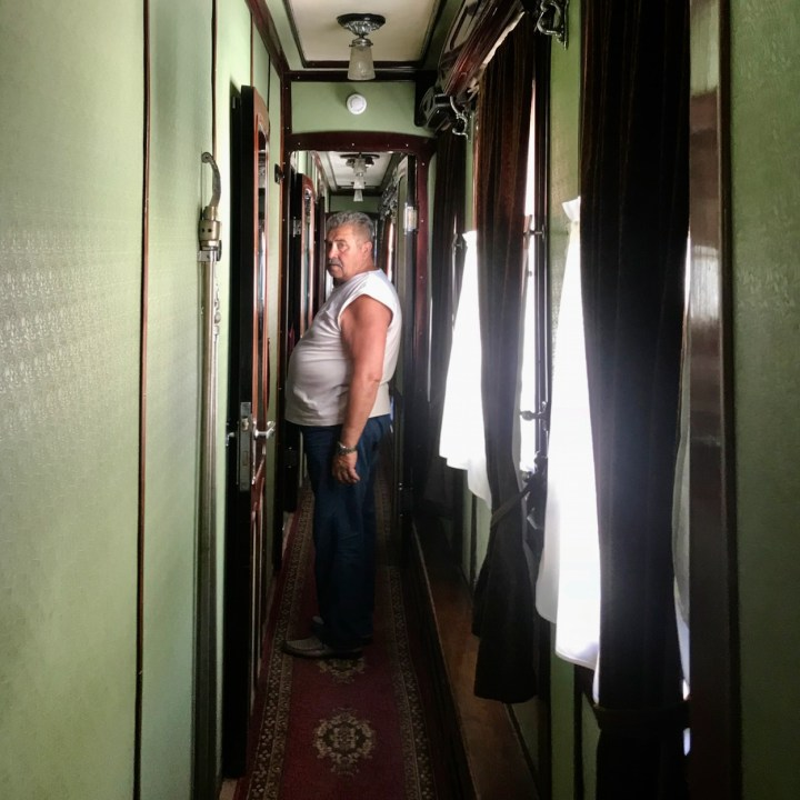 Gori Stalin Museum with kids train carriage