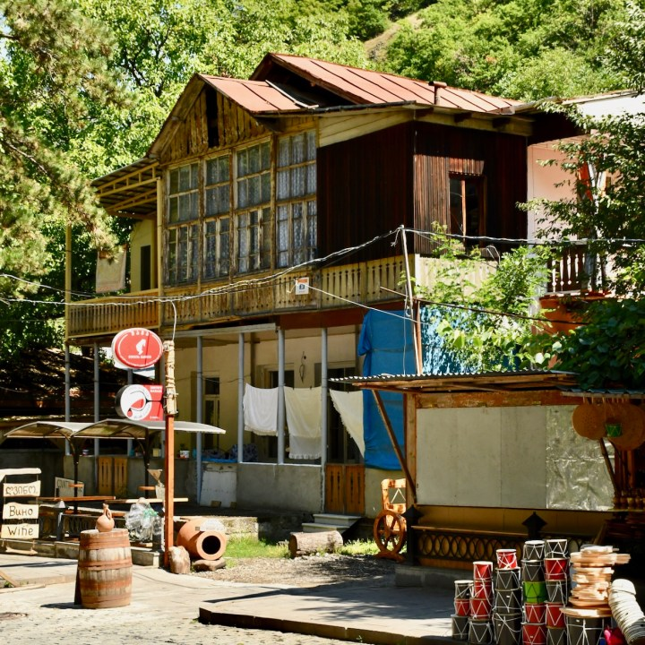 Borjomi Georgia with kids wooden house