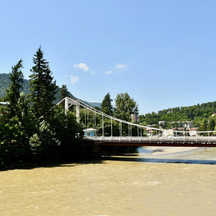 Borjomi Georgia with kids bridge