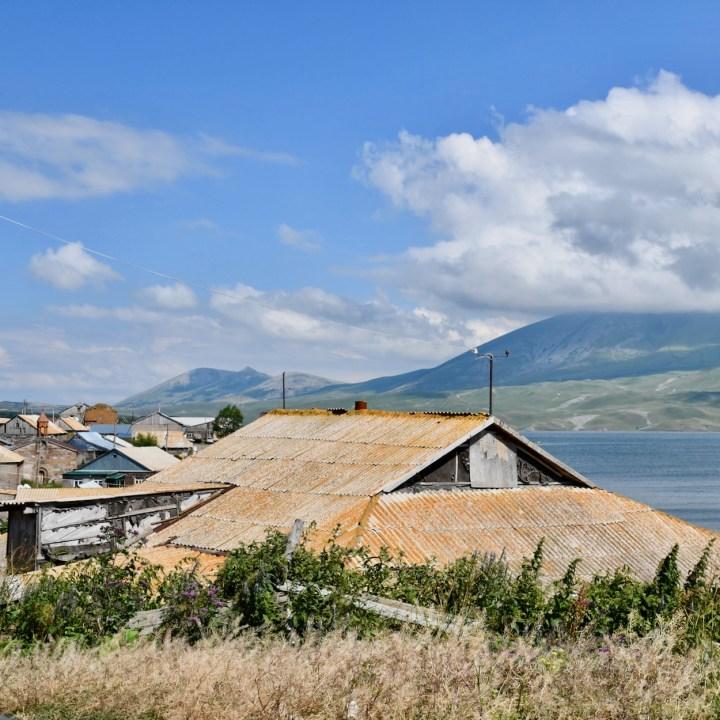 Lake Tabatskuri Georgia with kids local houses