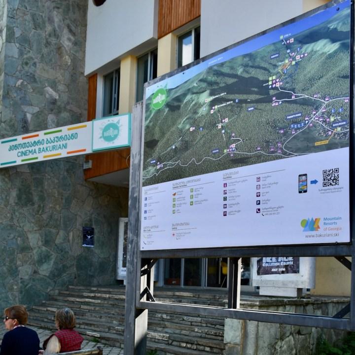 Bakuriani ski resort Georgia with kids ski map