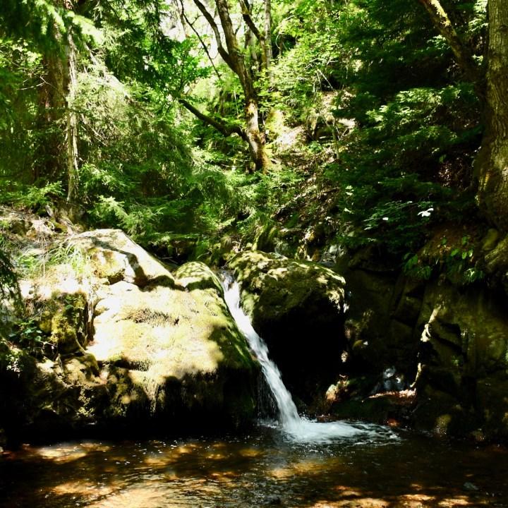 Askuri Georgia snowshoe hiking trail waterfalls