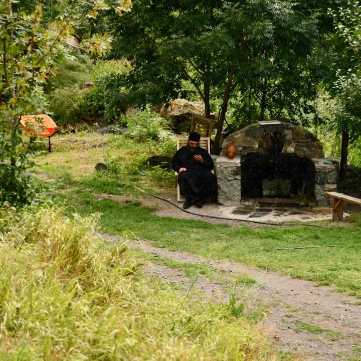 Vanis Kvabebi Cave Monastery monk