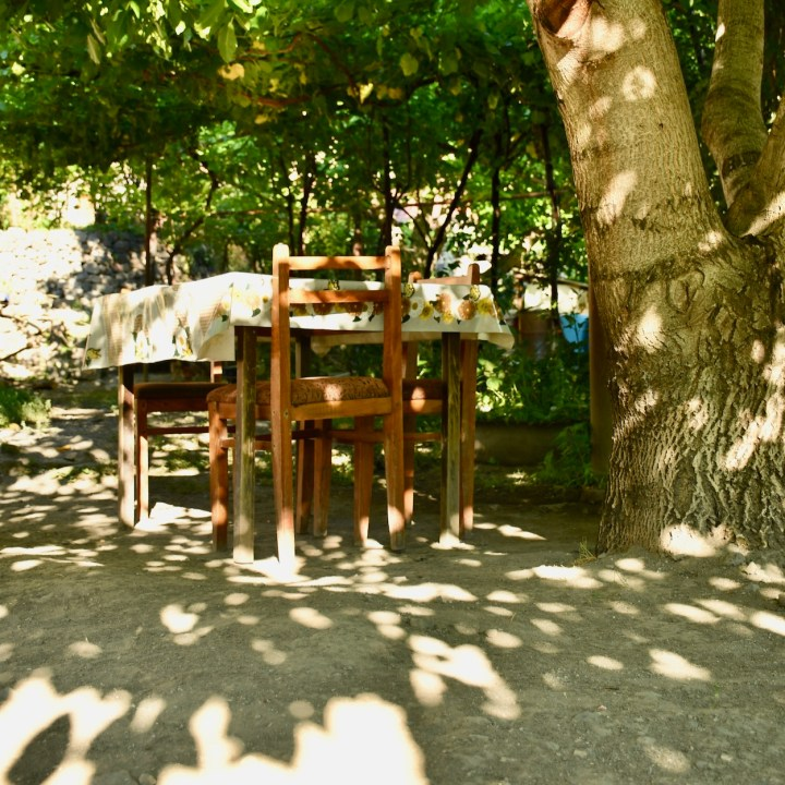 Khertvisi Georgia castle shade