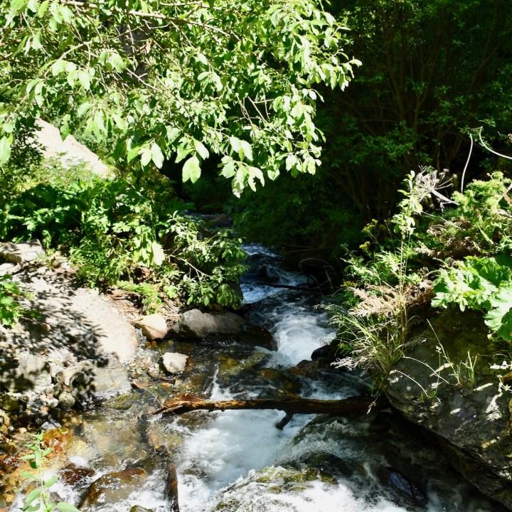 Gveleti waterfalls stream