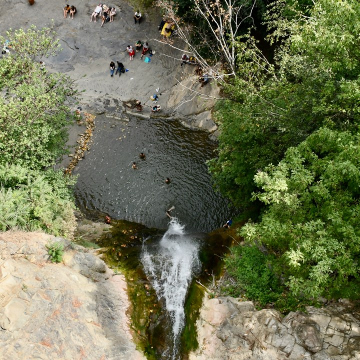 Tbilisi botanical garden waterfall pool