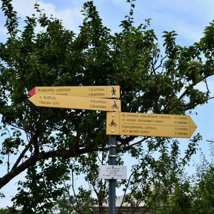 Dashbashi canyon signposts