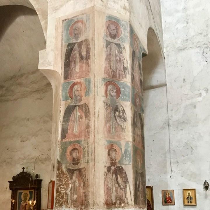 Ananuri church Georgia fading frescoes