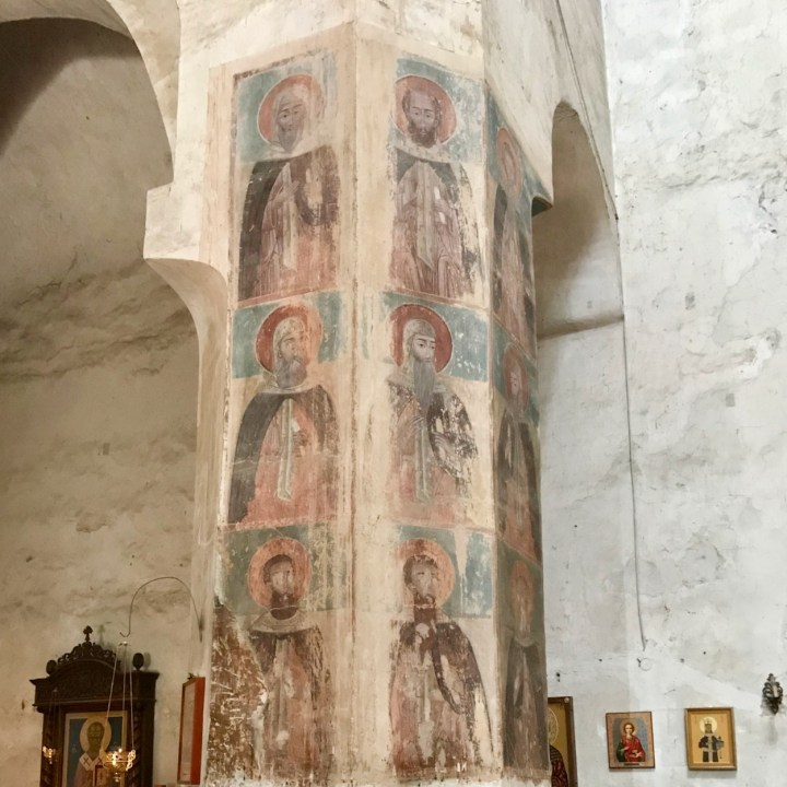 Ananuri church Georgia fading frescoes