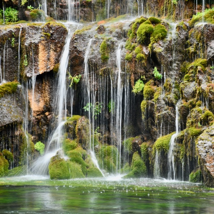 Dashbashi canyon waterfall close up