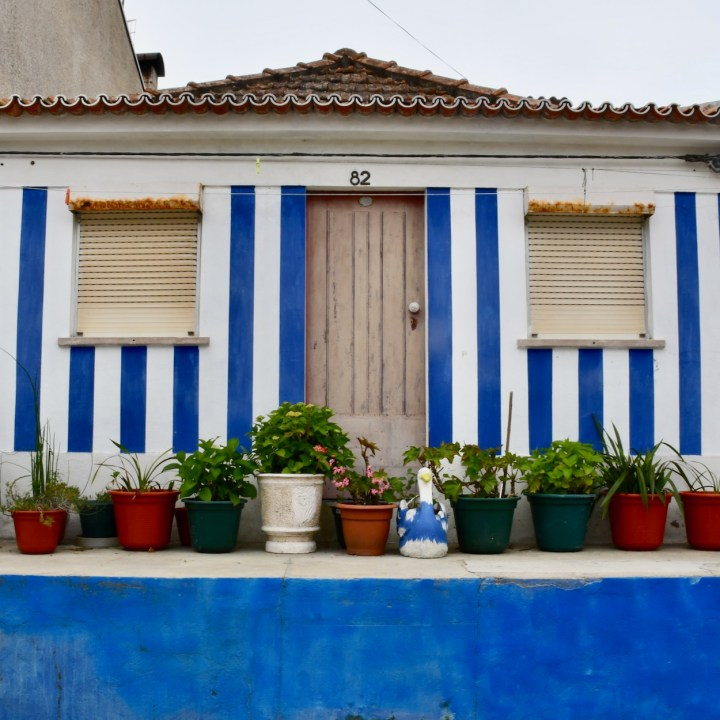 Costa Nova Portugal blue stripes