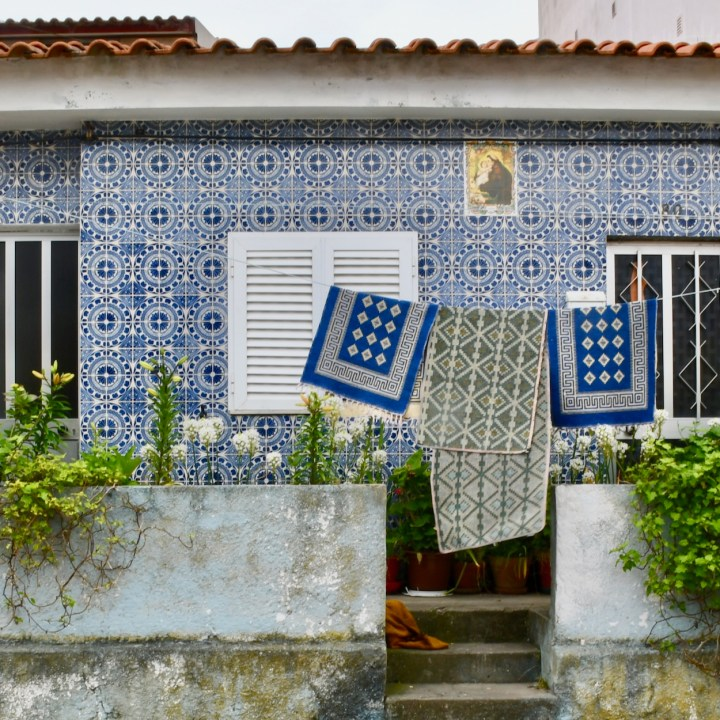 Costa Nova Portugal blue tiles