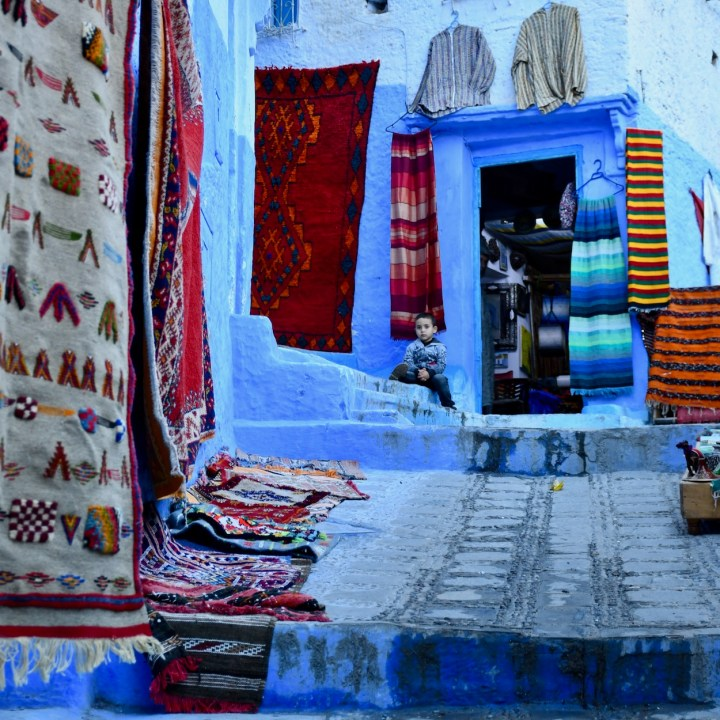 Chefchaouen Morocco local boy