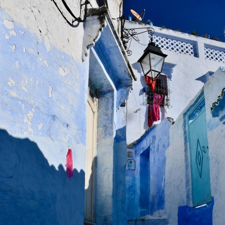 Chefchaouen Morocco shadows