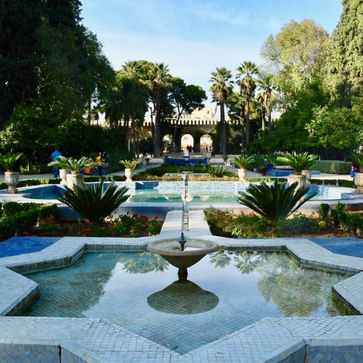 Jnan Sbil garden fountain