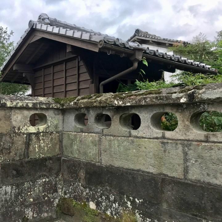 Chiran samurai residence garden wall