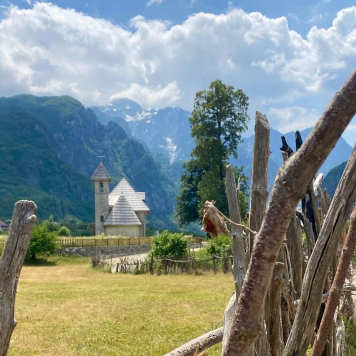 Albania, Theth, church