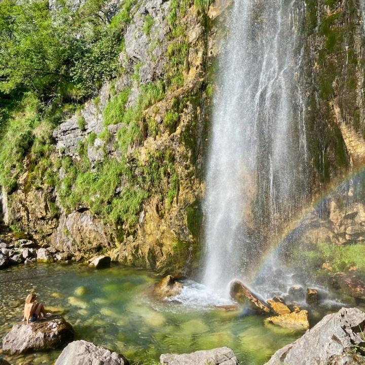 Albania, Theth, waterfall