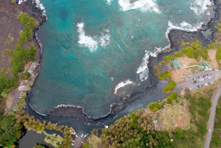 Punaluu Black Sand Beach - Big Island, Hawaii, Big Island Travel, Things to do Big Island, Big Island Hawaii, Big Island Tips, Hawaii Travel