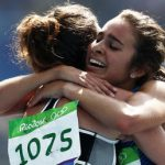 runners-olympic, hug
