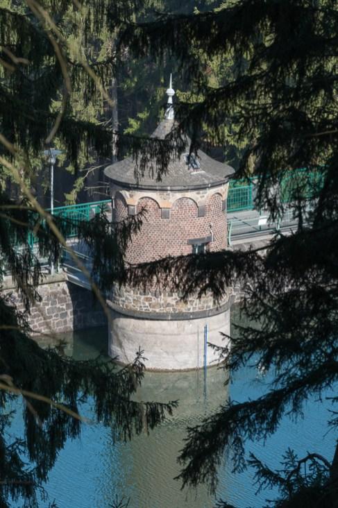 Detailansicht der Staumauer