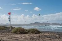 Kitesurfer am Playa Famara