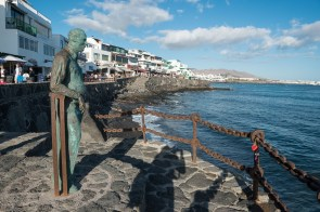 Denkmal in Playa Blanca