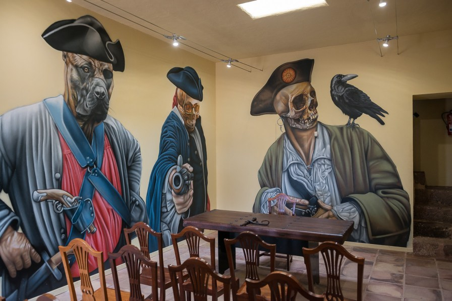 Wandmalereien im Castillo San Gabriel