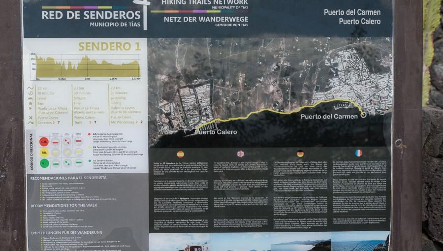 Karte unserer Wanderung