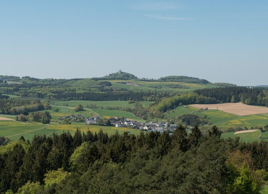Nürburg vom Eifelturm aus