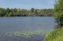 Eisenbahnbrücke über den See