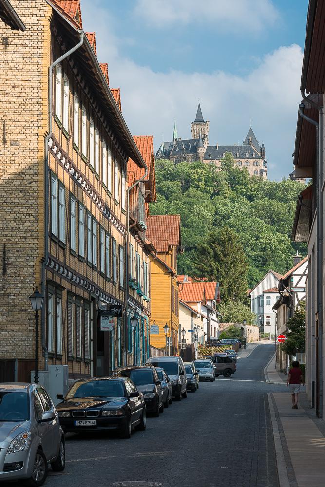 Schloss Wernigerode von der Stadt aus