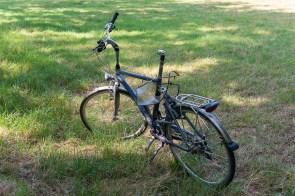 Herrenloses Fahrradwrack