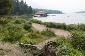 Bootshaus am Maligne Lake
