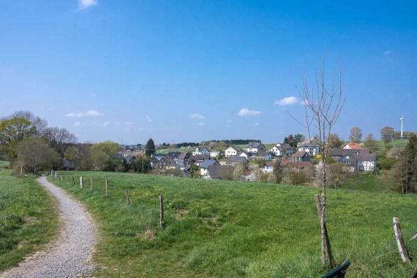 Ausblick auf den Ortsteil Krähwinkel