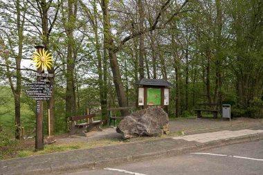 Am Wanderparkplatz in Wipperfeld