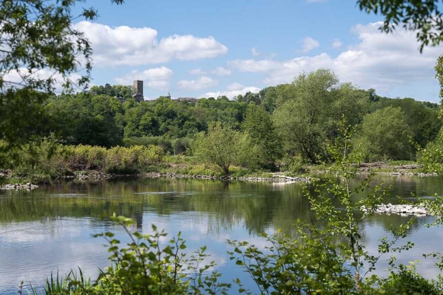 Burg Blankenstein von unten