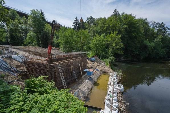 Neubau einer Strassenbrücke über die Agger