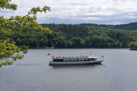 Elektroschiff auf dem Obersee