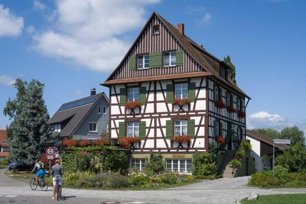 Fachwerkhaus in der Nähe des Klosters