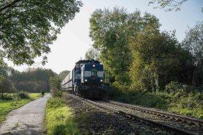 Zug mit Kohle Waggons