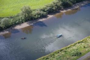 Auf der Weser waren Boote unterwegs