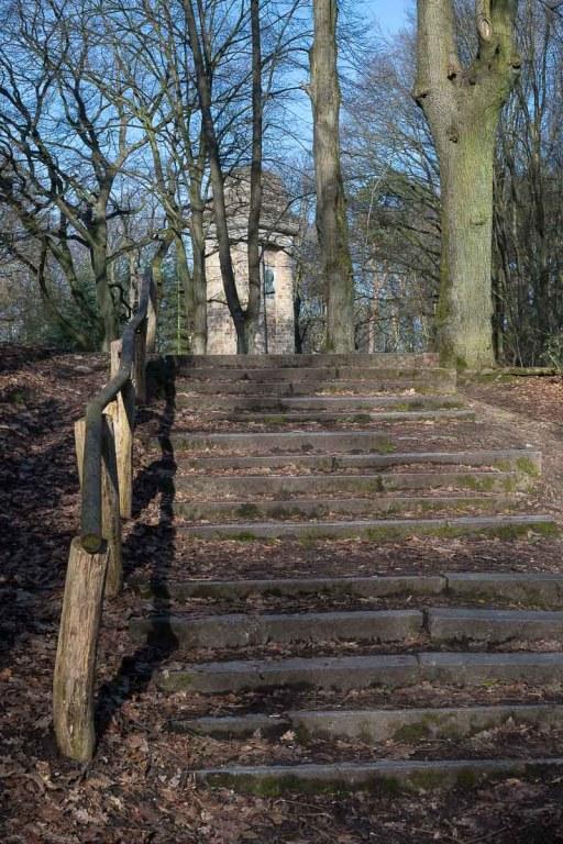 Treppenstufe zum Bismark-Turm