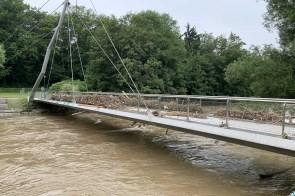 So hoch stand das Wasser an der Pastoratsbrücke