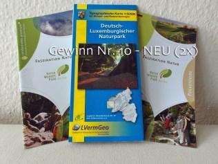 Nr. 10 - NEU 2x - Wanderkarte Deutsch-Lux.Naturpark und Prospekt