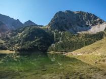 Das Rubihorn thront über dem See