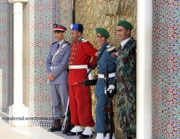 vor dem Königspalast in Fes