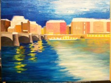 I went crazy with a palette knife for this step, one of my new favorite tools!