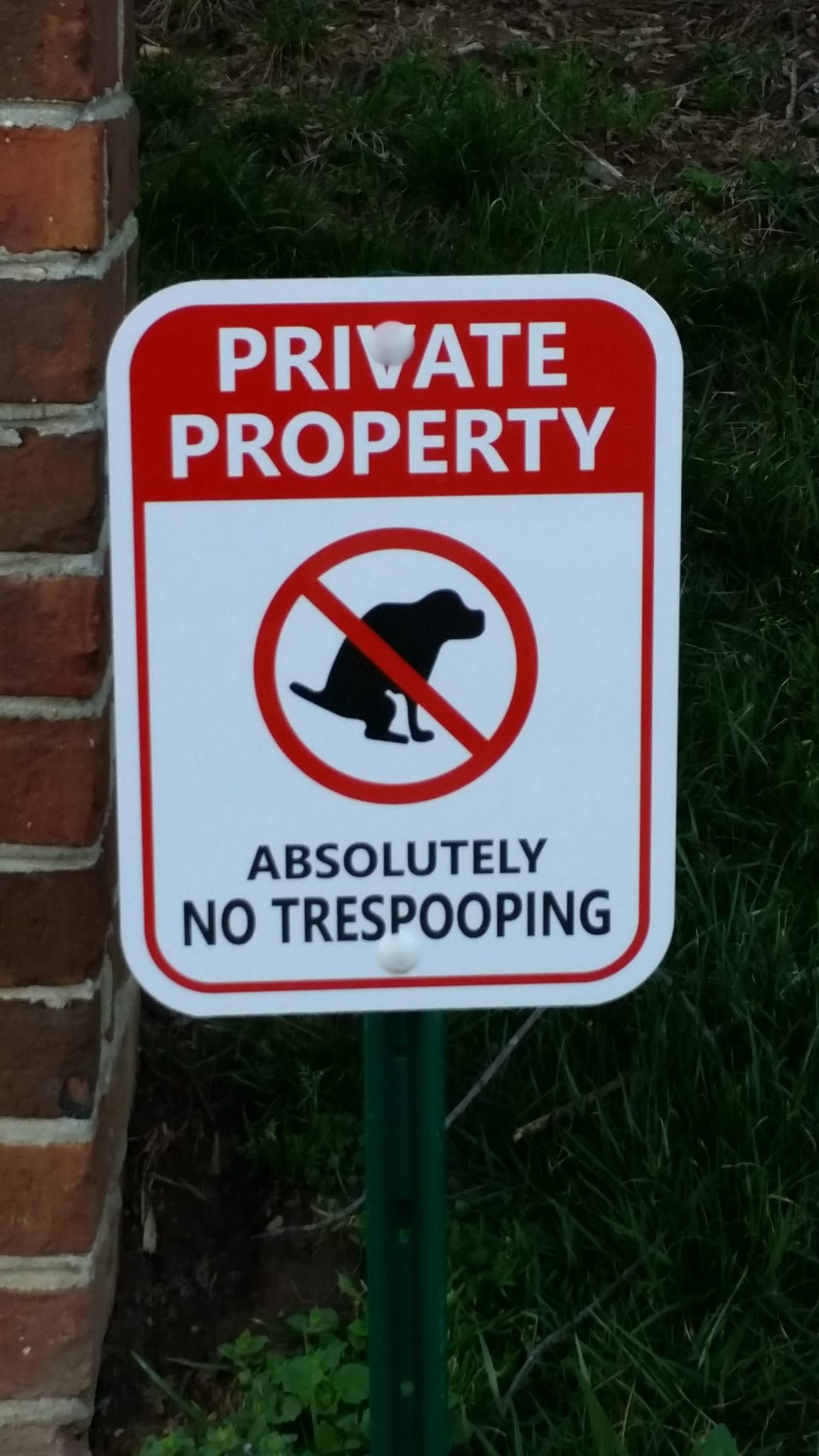 No trespooping