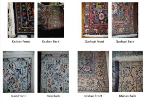 Persian rugs a front and back comparison